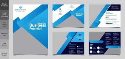 9-Page Corporate Brochure Template vector
