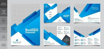 9 Page Business Brochure Template vector