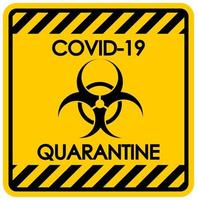 Coronavirus quarantine sign
