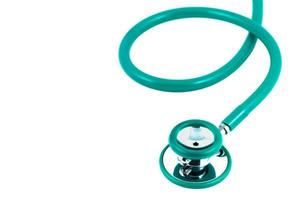 Stethoscope green color photo