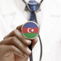 Estetoscopio con serie conceptual de bandera nacional - Azerbaiyán