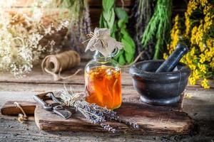 tintura terapéutica como medicina natural foto