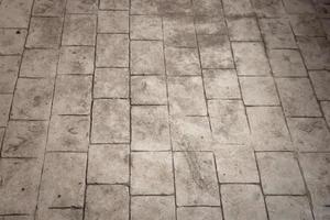 Pattern of small brick block on walkway photo