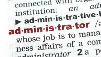 administrador - palabra del diccionario / vocabulario