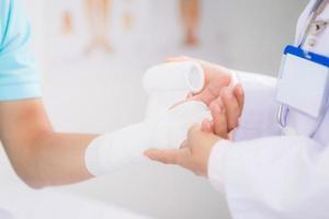 Bandaging wrist