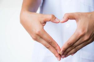 Heart hand background
