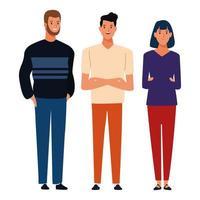 conjunto de caracteres del grupo de personas