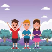 retrato de avatar de niños