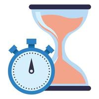 hourglass sand timer icon cartoon vector