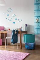 habitación hogareña para colegiala