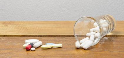 medicine in glass