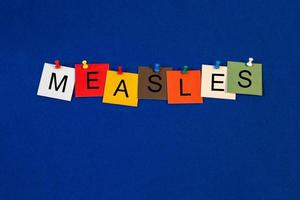 Measles -  sign for medical fitness and health care