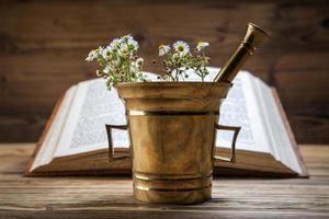 a medicina natural antiga, ervas e medicamentos foto