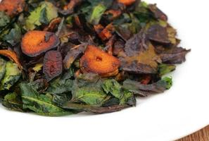 Fried neem leaves photo