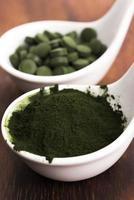 Chlorella verde foto