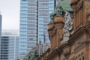 Old Queen Victoria Building among high-rise corporate offices in Sydney