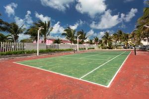 Outdoor tennis court photo