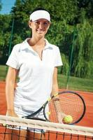 Young attractive tennis players