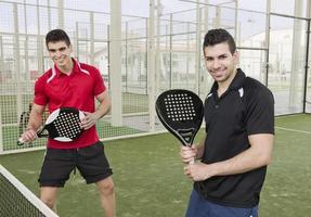 Paddle tennis team photo
