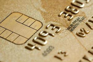 Close-up of credit card photo