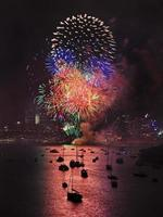 bolas verticales de fuegos artificiales de Sydney