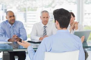 Businessman at work interview photo