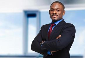 Confident african businessman photo