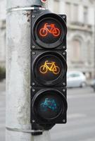 Traffic light for bicycle photo