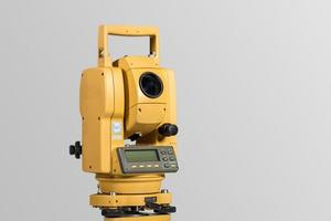 het total station landmeetkundige, meetinstrument
