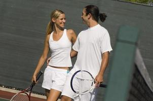 Mixed Doubles Partners on Court photo