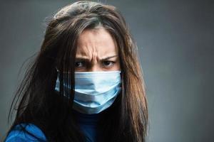 Women weared gauze bandage photo