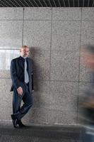 Businnes man and blurred motion photo