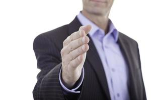 Closeup businessman handshake photo
