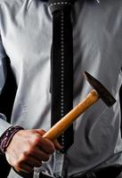 businessman with hammer photo