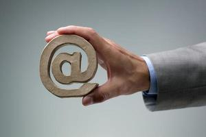 correo electrónico @ símbolo