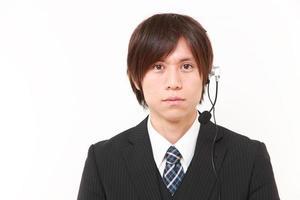 businessman of call center photo