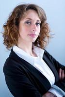 isolated portrait of a beautiful young executive woman