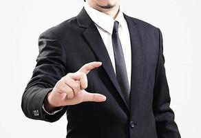 businessman acting display Profit that is worth very much