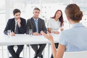 zakenvrouw in een werk-interview