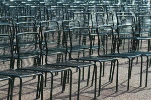 chaises vides