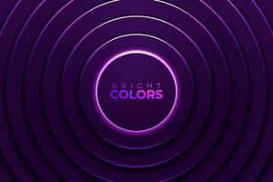 néon vibrant rougeoyant cercles violets