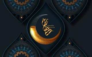 ramadan kareem gouden halve maan decoratieve begroeting