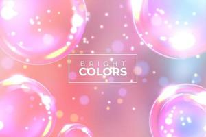 Abstract Banner Pink Shiny Bubble Background