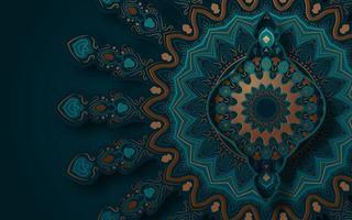 Ornate Textured Mandala Background