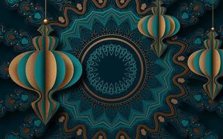 fond décoratif avec des ornements traditionnels de ramadan