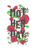 cartel para el dia de la madre vector