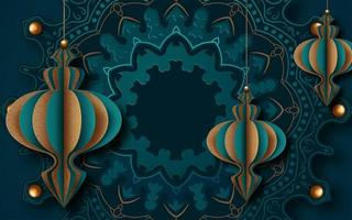 Ornate Islamic Greeting Card Design for Ramadan