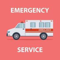 servicio de emergencia en ambulancia vector