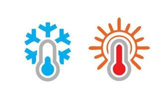 Cold Hot Temperature Icon vector