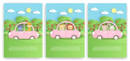 Set Animals Cards